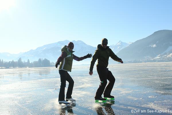 Skating on Lake Zell